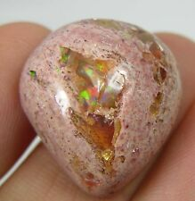 #5 25.35ct Mexico 100% Natural Rough Fire Opal in Matrix Cabochon Gemstone 5.05g