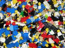 Lego 10 Figuren, Minifiguren, Männchen, System, Stadt mit Kopfbedeckung