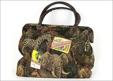 Safari print carpet bag overnight bag handmade