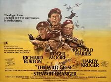 "THE WILD GEESE repro UK quad poster 30x40"" Richard Burton Roger Moore FREE P&P"