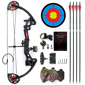 Evercatch Youth Compound Bow 10-29lbs for Kids Teenager Junior Target Hunting