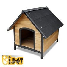 Pet Dog Kennel House Extra Large Timber Wooden Log Cabin Wood Indoor Outdoor