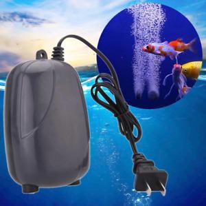 Aquarium Air Pump Quiet Single Outlet Mini Oxygen Compressor Fish Tank Accessory