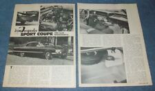 1963 Chevy Impala Sport Coupe Resto Vintage Article