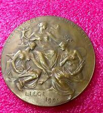 1905 Belgium Liege Universal Exposition World's Fair Antique Medal Women