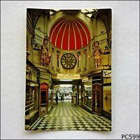 Gog and Magog Royal Arcade Gaunts Clock Melbourne Postcard (P599)