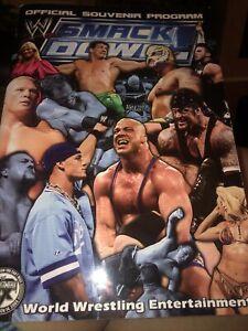 WWE Smack Down Official Souvenir Program 2003 WWF Lesnar Cena Angle Undertaker