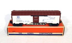 Postwar Lionel 6672 Santa Fe Refrigerator Car~All Original~w/Nice OB