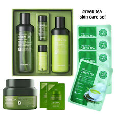 Tonymoly Green Tea 9 Set + samples Toner Emulsion Cream Pack K-Beauty Fedex ship