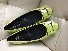 AUTH Roger Vivier Women GOMMETTE Buckle Ballerine Ballet Shoes 38