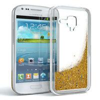 Schutz Hülle f. Samsung Galaxy S3 Mini Liquid Glitzer Cover Handy Case Gold