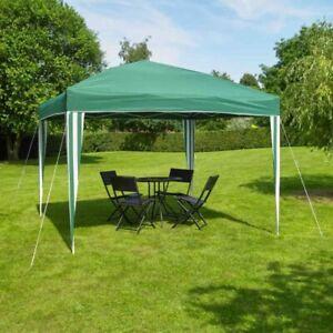 Pop up Green Gazebo 3x3 m Camping Festival Party Family Dinner Easy Assembly