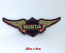Honda Wing F1 Biker logo Embroidered Iron on Sew on Patch #1407