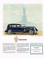 1936 BIG Vintage Packard Twelve Le Baron Town Car Statue Of Liberty Art Print Ad