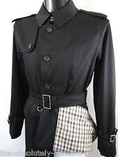 AQUASCUTUM FAIRMOUNT Trench Rain Coat BLACK 46 R  Made in UK