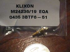 2 pieces Klixon Thermostatic Switch p/n M24236/19 EQA  New