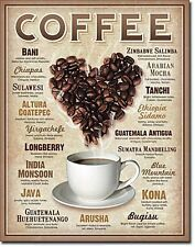 Coffee (Heart of Beans) metal sign (de)