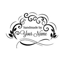 PERSONALIZED  CUSTOM MADE NAME RUBBER STAMPS UNMOUNTED H54