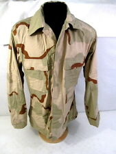US Army 3-Color Desert Camouflage Uniform BDU Coat or Shirt - Size Med/Regular