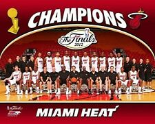 2012 MIAMI HEAT Finals Champs TEAM LeBron James-Dwyane Wade-Bosh 8x10 photo