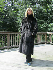 Reversible Ranch Mink and Brown Rain coat Full Length Size 8-12 M-L A Beauty!