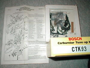 BOSCH CARBURETOR TUNE-UP KIT CTK93 NIKKI 2 BORE MAZDA