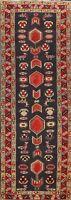 Vintage Meshkin Tribal Geometric Hand-knotted Runner Rug Hallway Oriental 3'x10'
