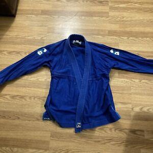 Inverted Gear Blue Light Pearl Weave Gi Size A2 Kimono BJJ jiu Jitsu Panda