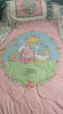 Vintage Precious Moments TWIN SIZE Quilt- Comforter & pillowcase 1990'S