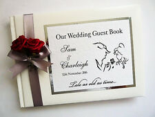 DISNEY BEAUTY AND THE BEAST PERSONALISED WEDDING GUEST BOOK (SILVER)