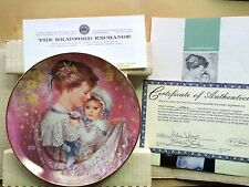 Brenda Burke Mother's Day Series Plate The Bonds Of Love Cherished Moment 1990