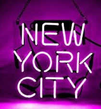 "New York City Purple Neon Lamp Sign 14""x10"" Acrylic Bright Lighting Artwork Bar"