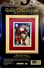 """""""BELOVED SANTA"""" 2001 Dimensions Gold Collection Petites Counted Cross Kit #8676"""