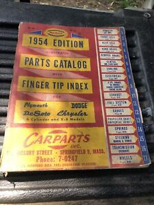 Chrysler dodge Plymouth Mopar parts dealer book original 1954 Edition
