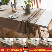 Weiße Rechteckige Tischdecke 132cm x 230cm Restaurant Qualität Leinen Mischung