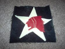 WWI US Army 2nd Division patch wool AEF