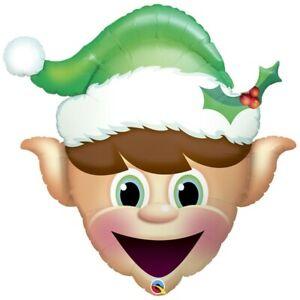 Christmas Elf Shaped Qualatex 35 Inch Foil Balloon
