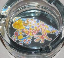 New Frog Toad Tye Dye Flowers Decorative Glass Ashtray Smoking Vessel Holder
