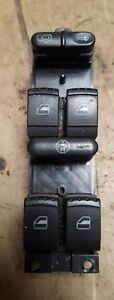 SKODA FABIA 1999 2007 DRIVERS WINDOW SWITCH WITH FRONT AND REAR