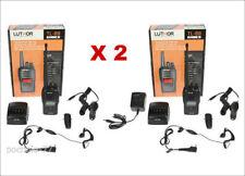 2 TALKIE WALKIE LUTHOR TL-88 NOIR PMR446 TACTICAL AVEC ENCRYPTION 5W 25 KMS