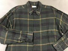 J CREW Mens Worn In Vintage Look Stained Button Front Flannel Shirt Tag XLT