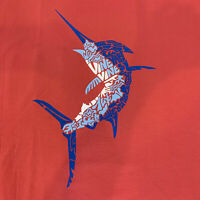 Vineyard Vines Mens Marlin Icon Fill S/S Pocket T-Shirt Jetty Red Sz XL- NEW TAG