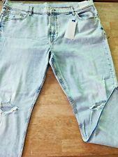 3xl {42] mens PHOENIX SLIM TAPERED denim jeans light wash {rrp $39.00} last one