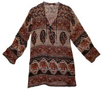 Indian Cotton Ethnic Top Blouse Boho Tunic Retro Women Gypsy Hippie Blusa HIPPY