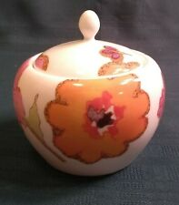 NEW LENOX FLORAL FUSION SUGAR BOWL WITH LID DESIGNED BY STEPHANIE RYAN