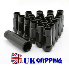 20PC Black Extended Steel Wheel Rim Tuner Lug Nuts Taper Acorn 12x1.5 For Toyota