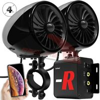 Waterproof Bluetooth Motorcycle Stereo Speaker Amp System MP3 Audio FM Radio AUX