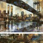"32W""x24H"" MANHATTAN SKYLINE by MARTI BOFARULL - NEW YORK TWIN TOWERS 911 CANVAS"