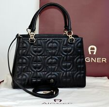 AIGNER Damen Tasche Leder black Modell: OLIVIA  Neu