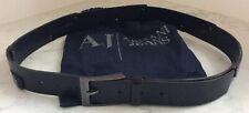 Ladies Armani Jeans Black Leather Belt - Size 87 / 102 (Excellent Condition)